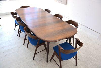 set of 8 rosewood chairs by Kai Kristiansen for KORUP stolefabrik. £4000