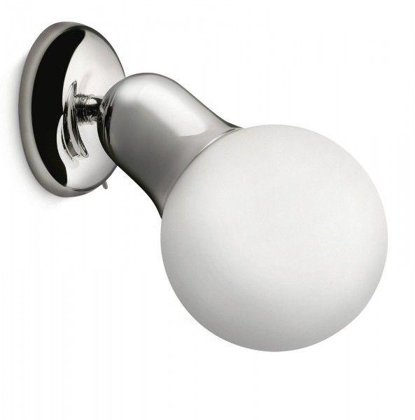 Technische Daten: Material: Metall, Glas Farbe: Chrom Fassung/Leistung: 1 x E14 12W Lichtfarbe: 2700 K warmweißes Licht Leuchtmittel inklusive, Energieeffizienzklasse: A Besonderheit: drehbar, Schalter am...