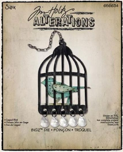 Sizzix - Tim Holtz - Bigz Die - Alterations Collection - Die Cutting Template - Caged Bird at Scrapbook.com