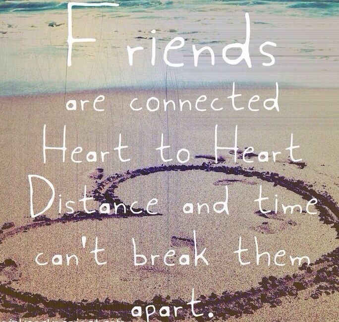 Just because your friends may be far away doesn't mean they aren't here for you!