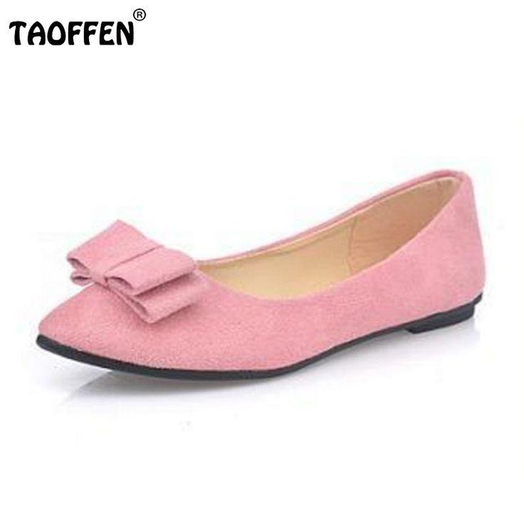 Nouveau Femmes Suede Flats mode de haute qualité Couleurs de base Pointy Toe ballerine Ballet Slip à plat Chaussures,gris,38