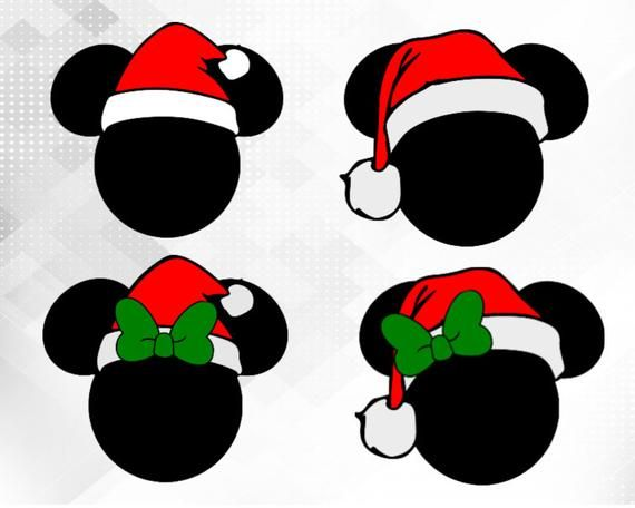 Mickey Mouse Santa ears!