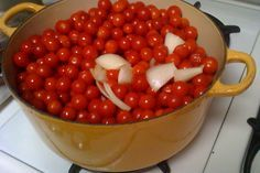 What to do with all those cherry tomatoes: Essence of Cherry Tomatoes Sauce & Dried Cherry Tomatoes