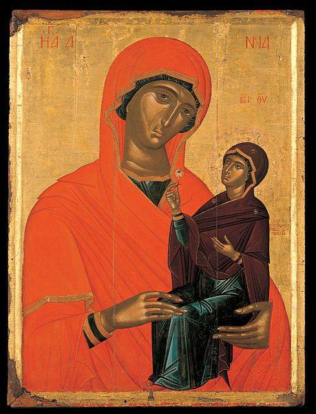 Angelos Akotantos - St Anne with the virgin, 1440-60