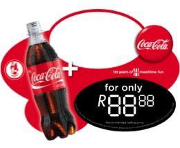 Coke fridge decal