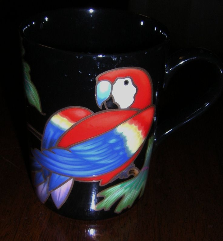 Fitz & Floyd Jungle Parrot Mug - pinned by pin4etsy.com