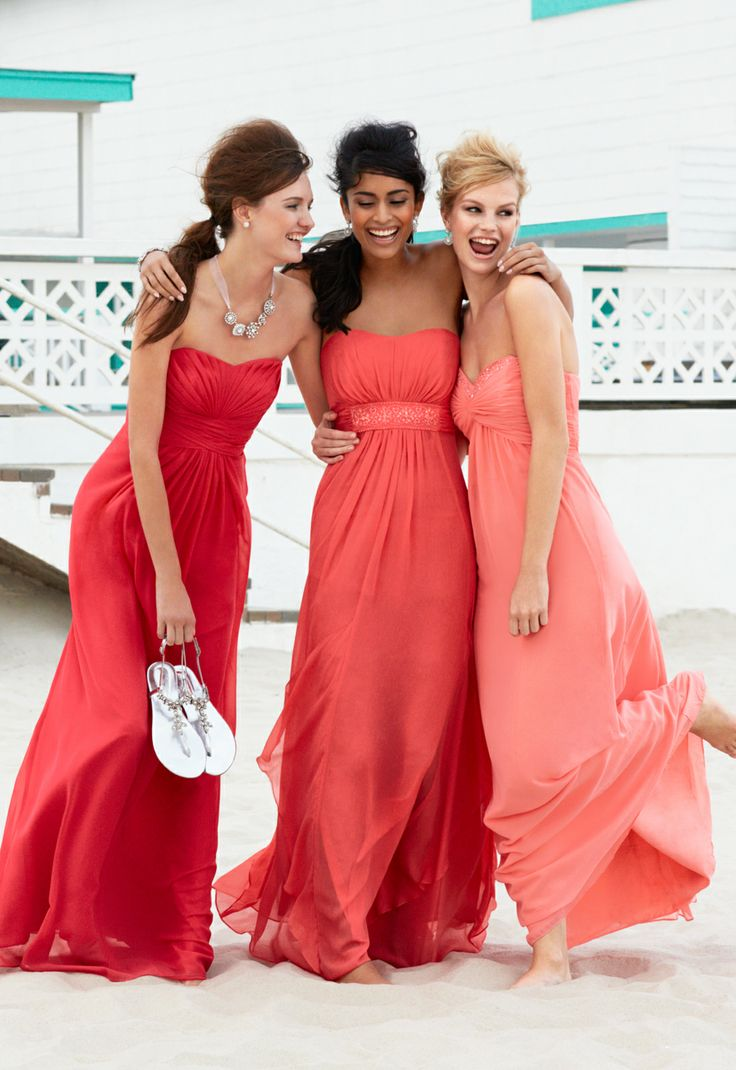 Shop by color to find Coral Reef pink bridesmaid dress ...