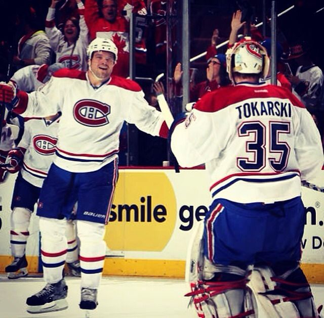 Last night Dustin Tokarski made his debut for the Montreal Canadians. He stopped 39 shots vs the Anaheim Ducks and lead his team to a 4-3 shootout win! Way to go Tic!