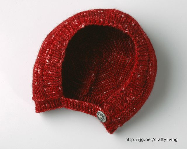 The free pattern for this bonnet will be available with Math4Knitters, Crafty Living: Show 115, starting on March 11, 2012 at journgazette.net/craftyliving.    Thanks, again, to Heather Terrill, for helping me out by test-knitting the pattern and suggesting the chin strap.