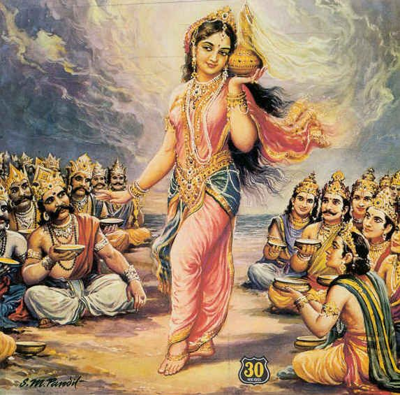 Mohini (Sanskrit: मोहिनी, Mohinī), is the only female avatar of the Hindu god Vishnu. She is portrayed as a femme fatale, an enchantress, who maddens lovers, sometimes leading them to their doom.