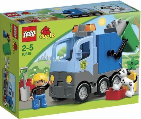 Lego Duplo - Camion de Basura;  Recoge los residuos y llévalos a la central de reciclaje con el Camion de Basura. Así tu ciudad será la más ecológica. Incluye una figura LEGO DUPLO de un empleado del servicio de limpieza... En   http://www.opirata.com/lego-duplo-camion-basura-p-25873.html