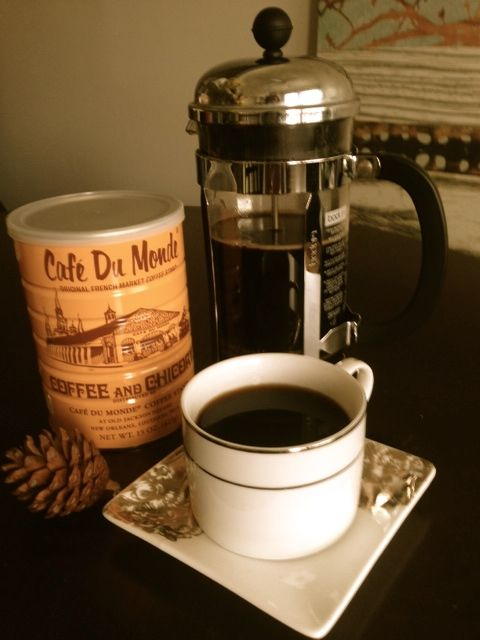 Chicory and Coffee! How to Directions - French Press for a Delicious Cafe du Monde Coffee! NOLA Favorite! Plus all the benefits of chicory - digestion, liver detox, and weight loss!