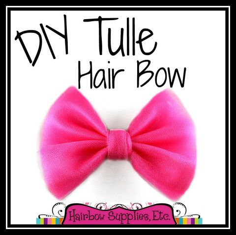 How to Make a Tulle Hair Bow – Hairbow Supplies, Etc.
