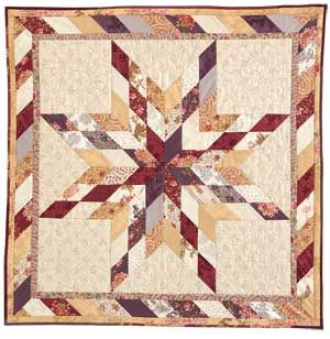 Lone Star Wall 300px Friday Freebie: Lone Star Sampler Wall Hanging Quilt Pattern