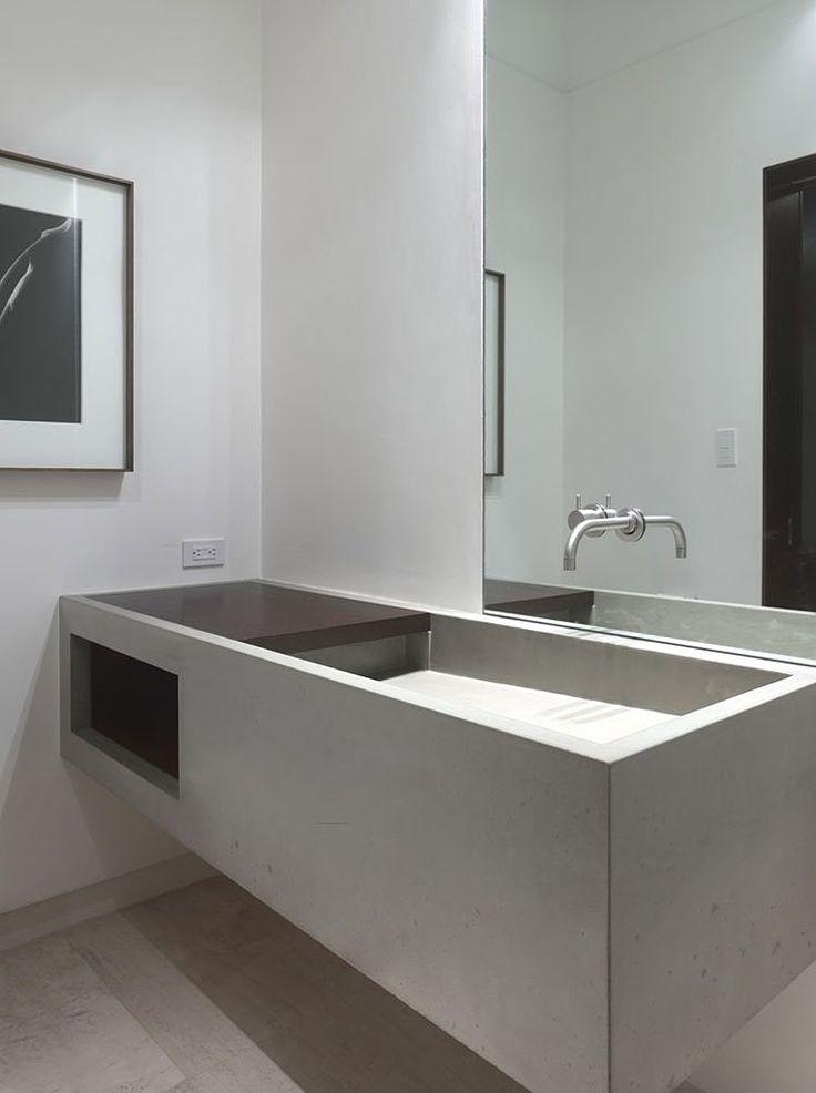 Concrete House By Ogrydziak And Prillinger Architects. Sink DesignDesign  BathroomBathroom IdeasSimple BathroomKnick KnackConcrete ...