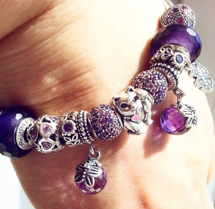 Popular Charm Bracelets 2: 22 Best Pandora PURPLE Images On Pinterest