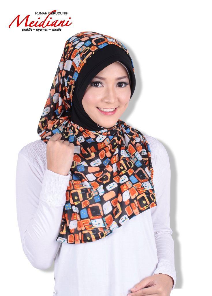 Jilbab lilit praktis PAKISTAN TWEENY ,, dgn pashmina motif yg cantik membuat penampilan anda lbh fresh..