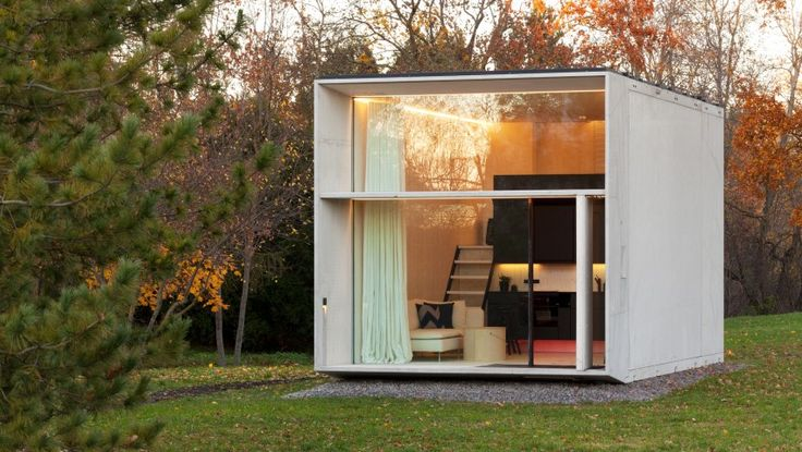 A concrete tiny house that snaps together like Legos