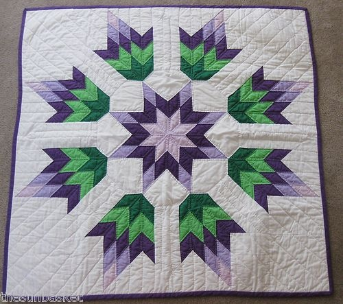 Hand Made Lakota Star Baby Crib Quilt Native American