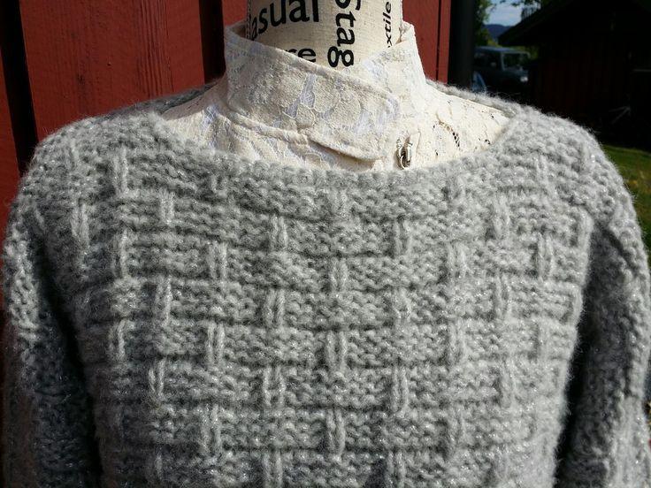 Elisabeth.H hobbyside: Skappelgenser, strikket skappelgenser i Puno