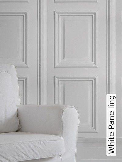 Bild: Tapeten - White Panelling