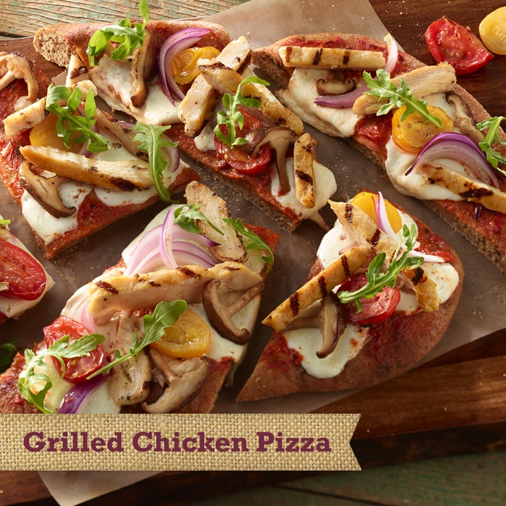 Grilled Chicken Pizza #ingredients: Whole wheat pizza dough, Natural ...