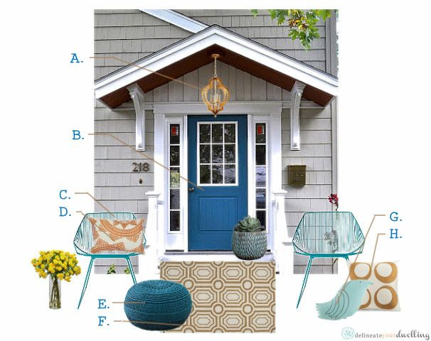 July's Front Door Friday, Delineate Your Dwelling #curbappeal #navyblue
