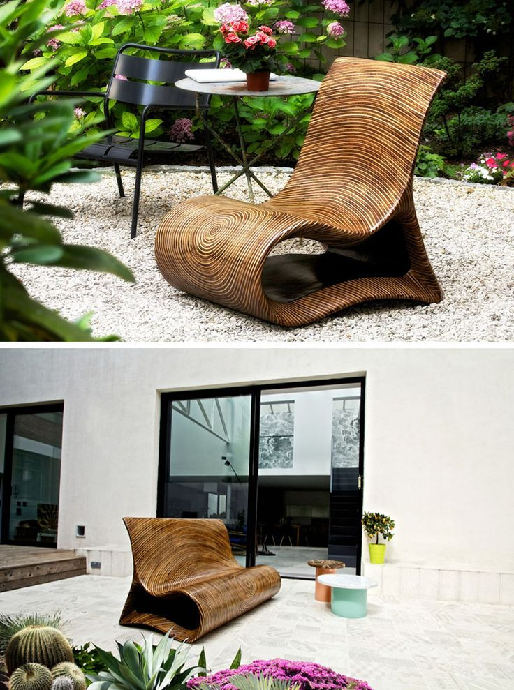 12 Outdoor Furniture Designs That Add A Sculptural Element To Your Backyard. Best 25  Unique wood furniture ideas on Pinterest   Wood table