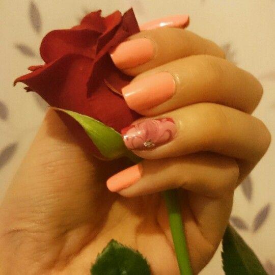#mani #manicure #waternails #flowernails