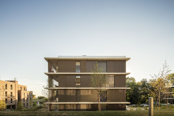 Completed in 2014 in Le Mont-sur-Lausanne, Switzerland. Images by Fernando Guerra | FG+SG. The Champs Meunier North and South area was built by Richter Dahl Rocha & Associés in two phases on former farmland in Mont-sur- Lausanne,...