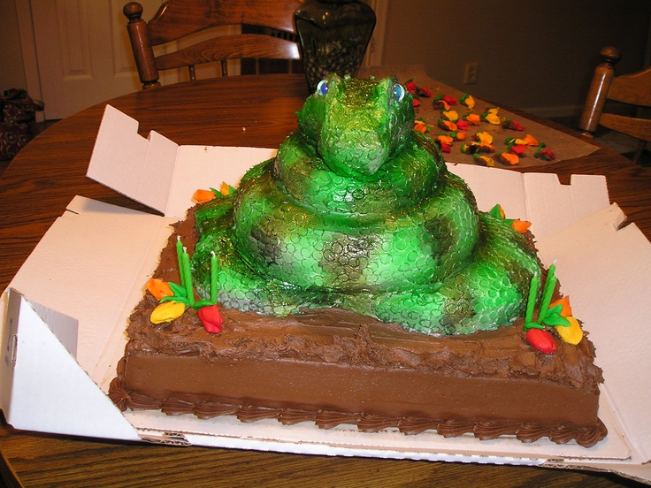 Best  Snake Birthday Cake Images On Pinterest Food And Drink - Snake birthday cake