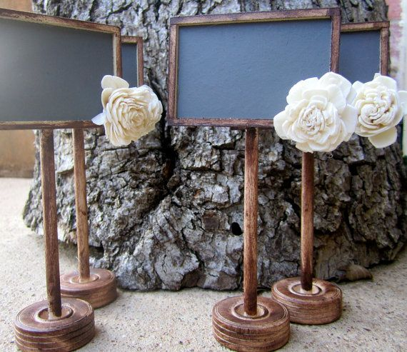 Set of 20 Chalkboard Table Numbers Name Cards Rustic Vintage Painted Distressed Shabby Chic Wedding Chalkboards ON SALE. $112.50, via Etsy.
