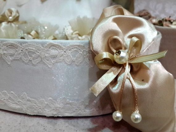 Champagne Wedding Favor Bag Marriage Ceremony Favor by BioHome
