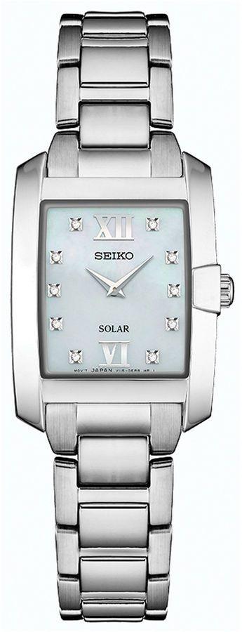 Seiko Dress Sport Womens Silver Tone Bracelet Watch-Sup377