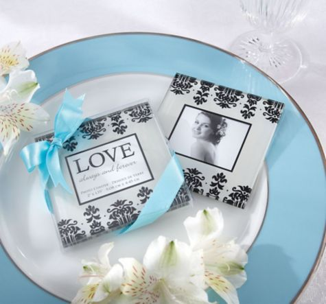 Love Always Forever Coaster Wedding Favor