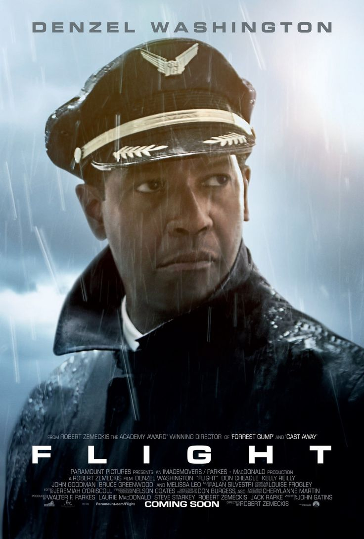 """Flight is a 2012 American drama film directed by Robert Zemeckis. The film stars Denzel Washington as William """"Whip"""" Whitaker Sr., an airline pilot who miraculously crash-lands his plane after it suffers an in-flight mechanical failure, saving nearly everyone on board. Immediately following the crash, he is hailed a hero, but an investigation soon leads to questions that put the captain in a different light. https://en.wikipedia.org/wiki/Flight_(2012_film)"""