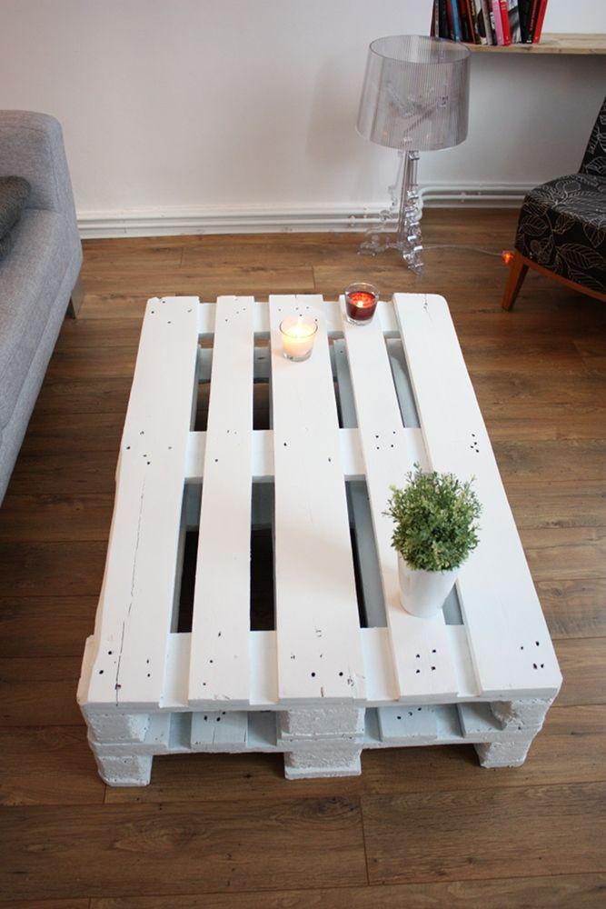 Best 25 table basse blanche ideas on pinterest tables basses en verre tab - Table basse avec palette ...