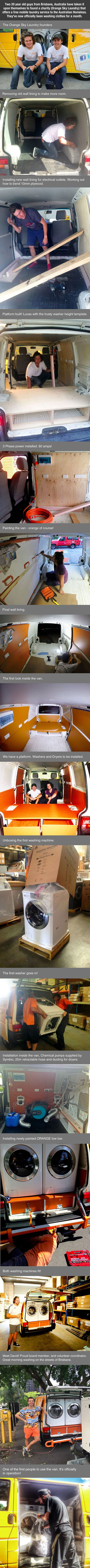 These guys created a mobile laundry service for the homeless, and it's awesome.