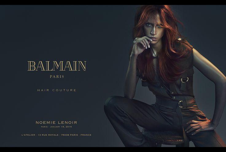 Balmain Hair Couture S/S 2016 : Devon Windsor, Cindy Bruna & Noémie Lenoir by An Le - the Fashion Spot