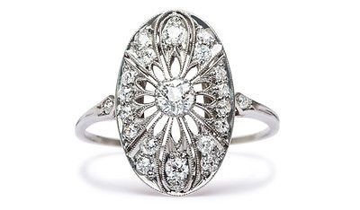 Vintage-Edwardian-Inspired-Diamond-Halo-Engagement-Ring-on-Platinum