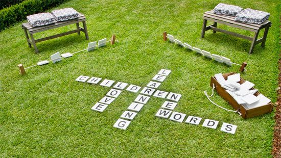 Scrabble loving kids will go crazy for this outdoor word game. | 23 DIY Projects That Will Blow Your Kids' Minds