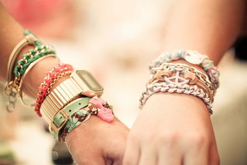 LOVELY AND DELICATE. <3: True Friendship, Arm Candy, Arm Party, Stacking Bracelets, Armcandi, Summer Accessories, Watches, Friendship Bracelets, Holding Hands