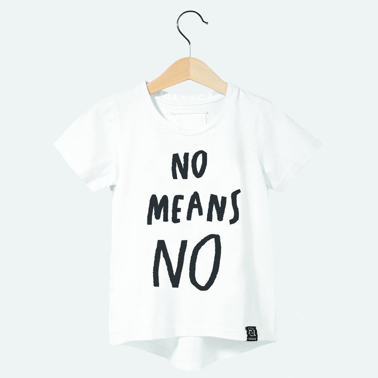 NO MEANS NO T-SHIRT white