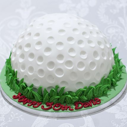 golf ball cake  | add graduation cap
