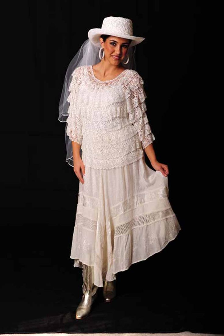 Western bride dress wedding fashion western wedding for Wedding dress western style