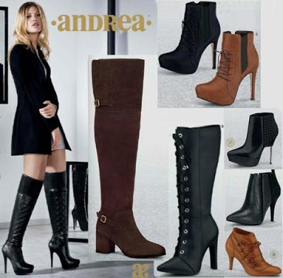 Catalogo de Botines y Botas Andrea 2016. Hojea: Botas de tacon, botas de plataforma, botas arriba de la rodilla, botas multicalce, botas de moda para mujer, botas juveniles, botas de amarre de agujetas. #iLovePS #style #chic #fashion #fashionable #fashionista #happy #must #sexy #shoes #sandals #spring #black