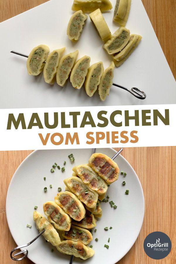 Maultaschen-Spieße vom OptiGrill