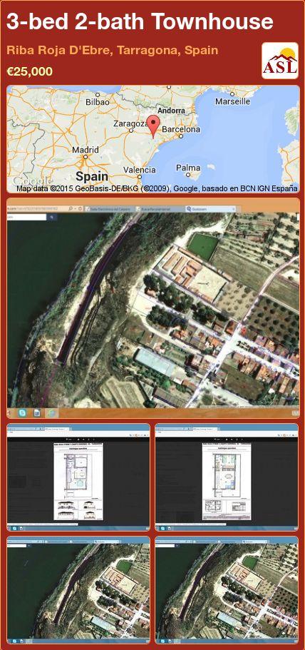 3-bed 2-bath Townhouse in Riba Roja D'Ebre, Tarragona, Spain ►€25,000 #PropertyForSaleInSpain