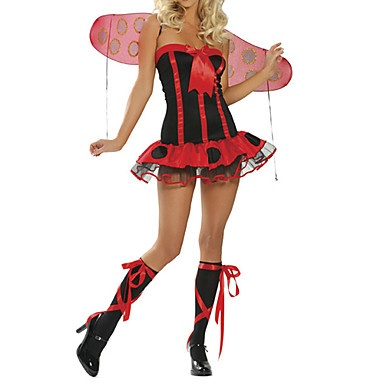 Sexy Daisy Lady Bug Vrouwen Volwassen Rood Halloween Costume (3 stuks) – EUR € 15.67