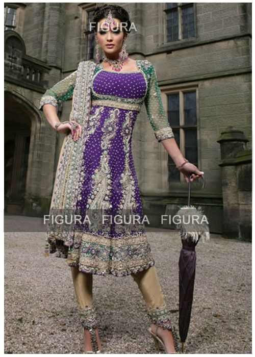 A beautiful bridal anarkali suit for Punjabi and Muslim wedding    http://www.figurafashion.com/index.php?main_page=product_info=1_id=432